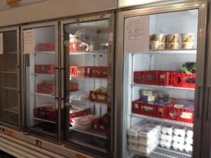 玉子や肉類用の冷蔵庫